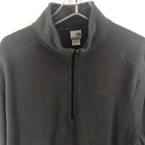 Champion Sweaters - Grey Champion 1/2 Zip Lightweight Pullover Mens L